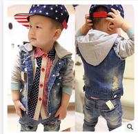 2014 the new children's clothing, children's denim jackets