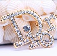 Factory Factory Wholesale Price Fashion Luxury Paris Series top quality full zirconia diamonds Brand D Women Brooch