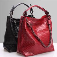 2015 Fashion Cow Leather Bag Women Genuine Leather Handbag Embossed Knitting Shoulder Bag Hot Messenger Bag Female Crossbody Bag