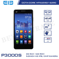 Stock! Elephone P3000S Octa Core Smartphone 4G MTK6592+6290 Mali-450 GPU 2G RAM 16G ROM Android Phone With 13MP Camera Cellphone