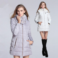 New Women Coat Hooded Zipper Pockets Thick Warm Fashion Winter Coat  Parkas  Free Shipping XX653