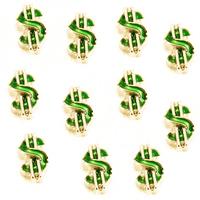 20pcs/lot Free Shipping Fashion Alloy Diy Gold Enamel Dollar Floating Charm For Origami Owl Memory Living Locket