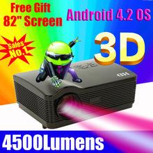 atco libre 82 pulgadas de pantalla 4500lm 1080p wifi androide inteligente llevó cine en casa 3d tv proyector full hd projektor portátil vídeo proyector(China (Mainland))