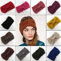 WIIPU Women's Fashion Wool Crochet Headband Knit Hair band Flower Winter Ear Warmer