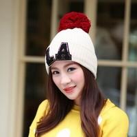 1pcs 2014 New Fashion Women Letters LA Knitting Cap Winter Warm Hat 8colors MZ1485 Free Shipping