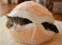 Kitty Hamburger Litter Disassemblability Windproof Pet Nest Shell Cat dog Bed Hiding Burger Bun Pet Cat Bed house Free Shipping