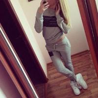 New 2014 fashion 2 piece women tracksuit black white gray letter hoody sport swearshirt sportwear suit