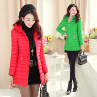 Free Shipping 2014 Autumn And Winter New Arrival Women's 1592 Medium-long Wadded Jacket Cotton-Padded Jacket