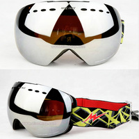 12color Rimless ski goggles spherical professional snowboard glasses snow skateboard eyewear snowmobile day night vision googles