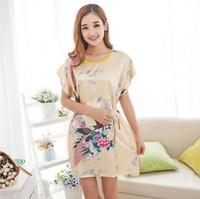 women nightwear Nightgowns Floral sleepwear casual robe night dress
