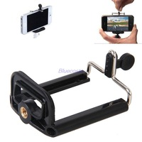 Camera Stand Clip Bracket Holder Monopod Tripod Mount Adapter W/ Standard 1/4 Hole for Samsung Galaxy S5 S4 Note3 III iPhone