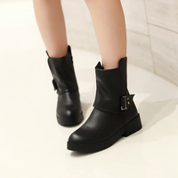 Women preppy style shoes with  buckle fashion lady boots
