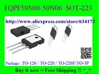 Free Shipping FQPF50N06 50N06  SOT-223 10pcs/lot