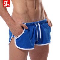 100% Cotton Swimwear New 2014 Men Underwear Patchwork Board Shorts Fashion Surf Panties Couples Swimming Underpants