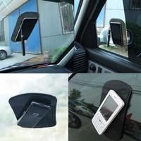 LY4# Mini 14 x 8.5cm  Sticky Plastic Black Car Anti/Non-Slip Glass Dash Mat Pad Brand New