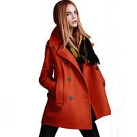 New Casacos Femininos Double Breasted Warm Fashion Winter Women Wool Coat  Free Shipping XX656