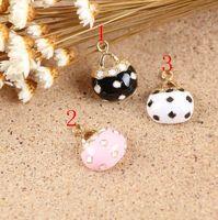 Enameled handbag charm pendant, 3 colors mixed, 15x20mm, wholesale