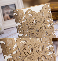 New laser cut wedding invitations card elegant customizable Floral 200 Pieces/lot with DHL UPS FEDEX TNT TOLL FREE SHIPPING