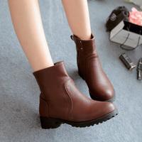 Women slip-on autumn short boots women's low-heeled shoes