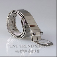 New style Male Fashion  Classic Metal Personalized Flat Belt costume dj ds singer performance essentials