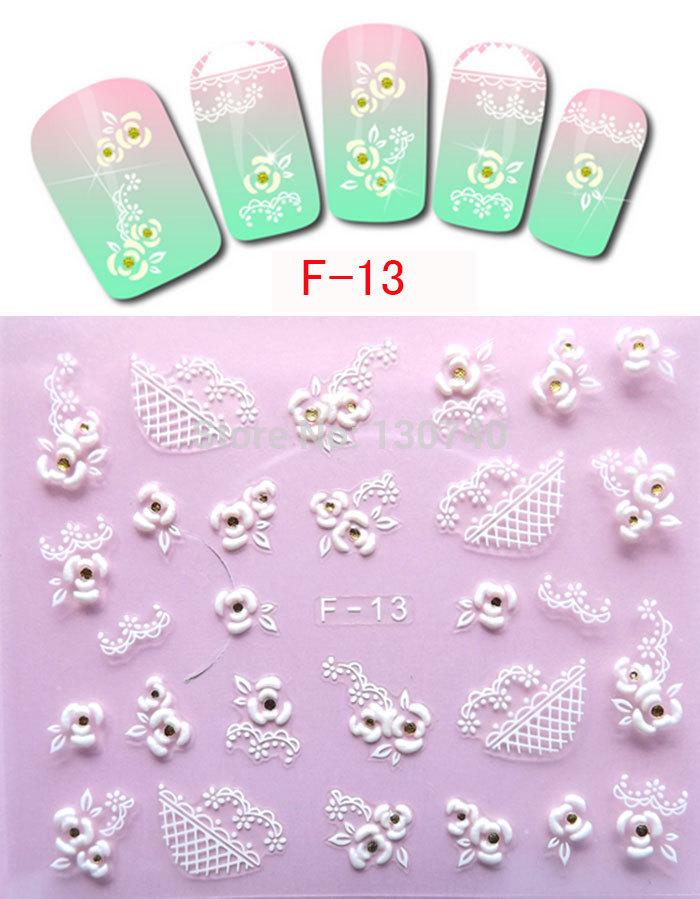F-13 3D styling tools nail art stickers Gel Make up nail care health decorations free shipping nail art decals(China (Mainland))