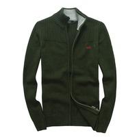 Mens-knit-cardigan-sweater-thick-sweater-coat-Korean-Slim-line-casual-jacket
