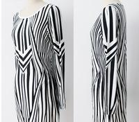 2014 new  fashion  bandage dress print  bodycon Full  party dresses women clothing  1096