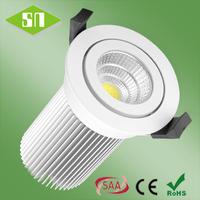 Australian standard 2-pin plug 13w warm white 3000K dimmable cob led downlight