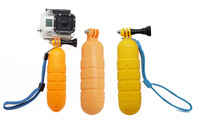 Floaty bobber for gopro with strap and screw for Gopro Hero 3+/3/2/1, Yellow & Orange