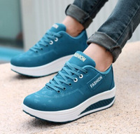 lady sports shoes body shaping platform trainers for women elevator sneakers zapatillas deportivas mujer zapatillas de mujer