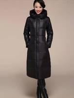 Plus size New 2014 Winter Hooded ultra long down coat women White Duck Down Jacket Parkas for Women Winter Free shipping B2341