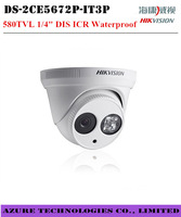 Free shipping Hikvision DS-2CE5672P-IT3P security surveillance 580TVL Waterproof ICR day night Dome indoor cctv analog camera