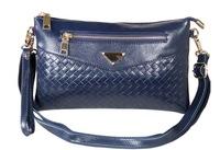 2014 woven leather shoulder messenger bag pattern casual evening bag large hand bag hand leather handbags L620