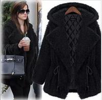 FYOUAI NEW Winter Women Coat jacket 2014 Fashion Hooded Cashmere Coat Casacos Femininos Woman Parkas Outwear Plus Size