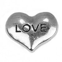 20pcs/lot Free Shipping Diy Wholesale Siver Love Heart Floating Charm For Origami Owl Memory Living Locket