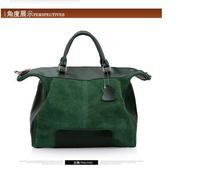 new fashion cuacul simple shoulder bag  full-grain leather patchwork comfort messenger bag vintage handbag for women