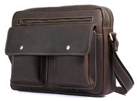 Men leather bag shoulder messenger bag for iPad A4 magazine famous designer bags high quality TIDING 1121