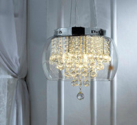 Free Shipping dia 50cm Glass Crystal Drop 5 Light Pendant Chandelier.