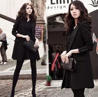 2015 new fashion Designers spring Autumn women's slim blazer coat outerwear lady black Suit big size S-XXXL