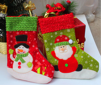 10pcs/lot(mixed) 26*19cm Small Christmas stockings Christmas decorations drop shipping