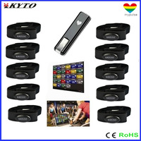 DHL shipping 2.4 G heart rate monitor for Club fitness solutions ( 1 USB receiver +16 belts)