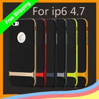 10pcs/lot  For iPhone 6 6G 4.7 inch Original Rock Royce Series PC +TPU Ultra Thin Anti-Knock shockproof Case +retail+ freeship