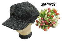 Woolen  painter cap Fashion Octagonal hat newsboy cap  all match cap / Cabbie Hat /Flat Cap 3colors