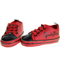 SanFu--GU035 #2014 NWT baby boy shoes RED leather football first walker  home toddler shoes size 2 3 4 in US freeshiping