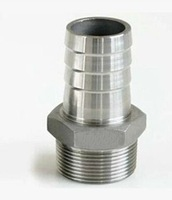 Free Shipping Male Thread Pipe Fitting x Barb Hose Tail Connector Stainless Steel NPT For Sale