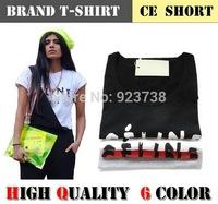High quality Fashion Women's casual short sleeve t-shirt women brand t-shirts letter print womens tops round blouses & shirts