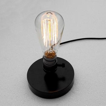 retro nostalgia and solid wood base E27 light bulb DIY small desk lamp ...