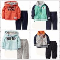 Free Shipping hot sale Original Carters long Sleeve newborn baby boy Clothing Set,cotton jacket+Pant  twinset baby Clothing