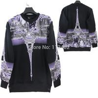 2014 Eiffel Tower States shows fashion brand line Set the new head fleece autumn Tide male bump color Fleece hoodies