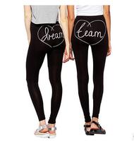 2014 Autumn WInter  New Fashion Slim Pencil Pants Women Black Printed Fitness Leggings High Street Casual Leggings Plus Size